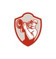 Cameraman Vintage Movie Camera Shield Retro vector image vector image