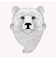 Sketch Bear with a beard and moustache Hand drawn vector image vector image