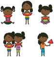 African-American girls vector image