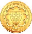 gold coin French ecu vector image vector image