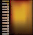 piano music retro background vector image vector image