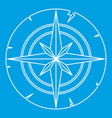 ancient compass icon outline vector image