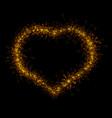 heart sparkler vector image