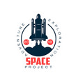 logo of spacecraft launch space exploration and vector image