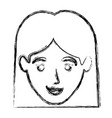 monochrome blurred silhouette of smiling woman vector image