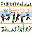 volleyball players set vector image