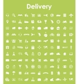 Set of delivery simple icons vector image