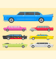 detailed luxury limousine long car vector image vector image