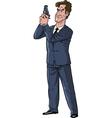 secret agent with gun vector image vector image