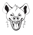 laughing hyena vector image
