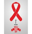 World Aids Day 1st December design concept with vector image