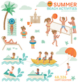 Beach Activities vector image