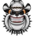 Bulldog in a cowboy hat vector image