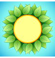 Abstract eco background with stylish sunflower vector image