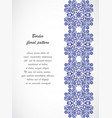 arabesque vintage seamless border floral vector image