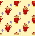 circus cartoon monkey character animal wild zoo vector image