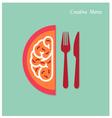 Creativity menu concepts vector image