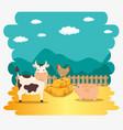 farm animal icon vector image