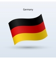 Germany flag waving form vector image