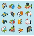 Library Isometric Icons Set vector image