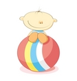 little boy and ball vector image