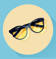 summer glasses icon vector image