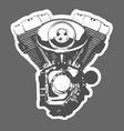 vintage motorbike engine vector image