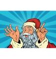 Santa Claus resembles pop art retro vector image