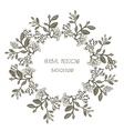 Herbal medicine label or frame sketchy design with vector image