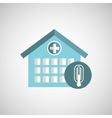 thermometer icon hospital medical design vector image