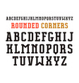 serif font with rounded corners vector image