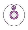 hippie long play icon vector image