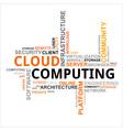word cloud cloud computing vector image vector image