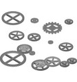 engine gears for industrial design vector image