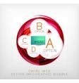 Circle web design bubble  infographic elements vector image vector image