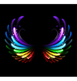 rainbow wings vector image