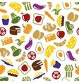 vegetarian meals seamless pattern vector image