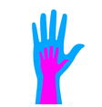 silhouettes of adult and childrens hands vector image