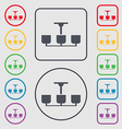Chandelier Light Lamp icon sign Symbols on the vector image