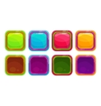 Fancy colorful bright buttons vector image
