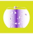 color icon with aquarium vector image