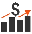 Sales Bar Chart Flat Icon vector image