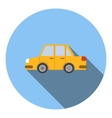Yellow car icon flat style vector image