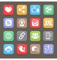 Social network icon for web mobile vector image vector image