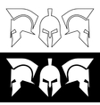 Roman greek helmet vector image
