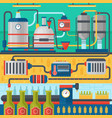beer brewery production process factory beer vector image