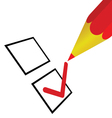 check list with pencil vector image