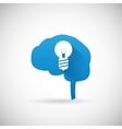 Creative Idea Symbol Brain and lightbulb vector image