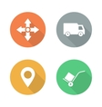 Delivery service flat design icons set vector image