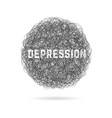 depression with hand drawn cloud and shadow vector image